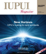 Winter 2009 IUPUI Magazine cover